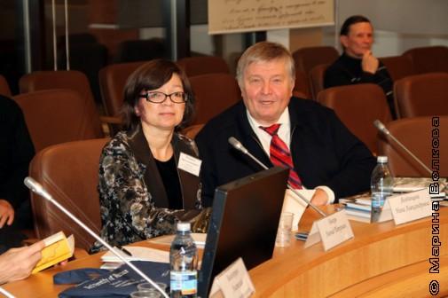 Конференция, Нина Ягодинцева и Василий Быковский (г. Муравленко)
