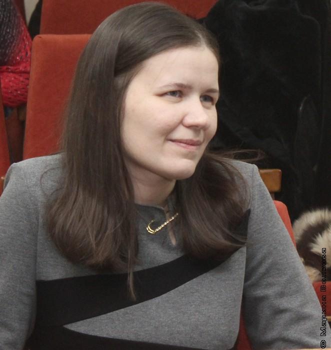 Галина Дядина во время Читательского марафона в Арзамасе