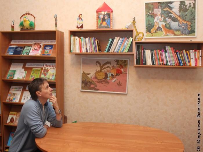 Михаил Придворов в библиотеке Гороховца