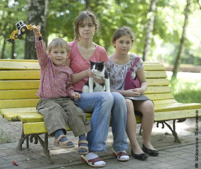 Стёпа, Даша с Мяушкой и Катя