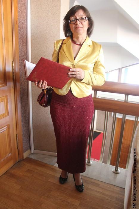 Нина Ягодинцева, ведущая церемонии вручения премии