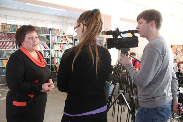 Татьяна Александрова дает интервью