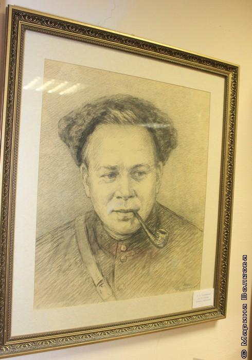 Аркадий Гайдар. Рис. И.З.Таушканова