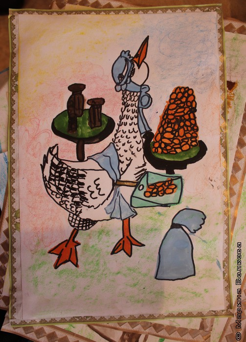 Базар. Детский рисунок