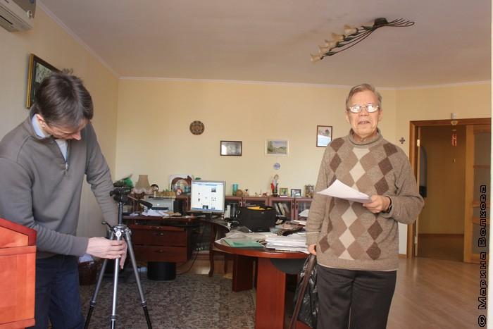 Михаил Придворов и Юрий Брызгалов готовятся к съемкам