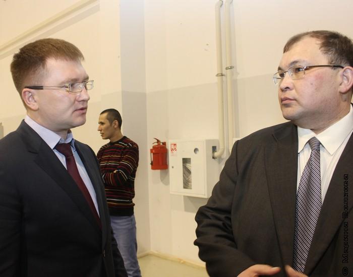 Марсель Юсупов рассказывает Амуру Хабиббулину о спортивных планах учалинцев