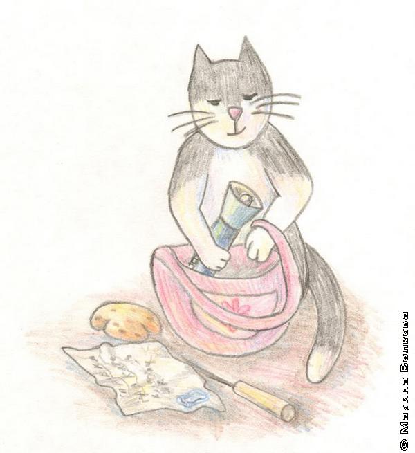 Кошечка с сумочкой