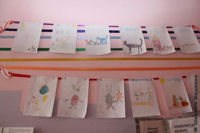 Выставка рисунков к 1 марта в детском саду