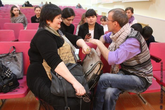 Интервью у Сыч  и Грантса берут школьники Фершампенуаза