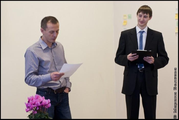 Михаил Стригин читает свой экспромт