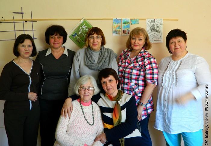 Слева направо: Татьяна Бобина, Ирина Ежова, Марина Волкова, Наталья Крупина, Елена Сыч. Сидят: Северина Школьникова, Нина Пикулева