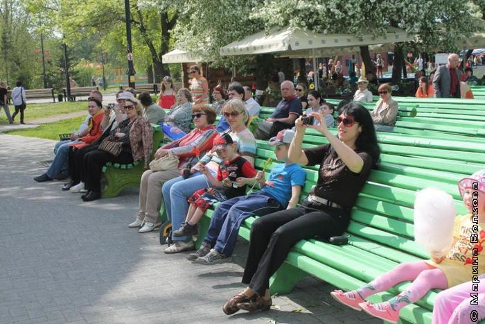 Анна Кипнис - среди зрителей
