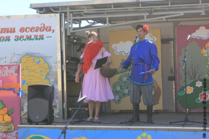 Открытие праздника в селе Каратабан