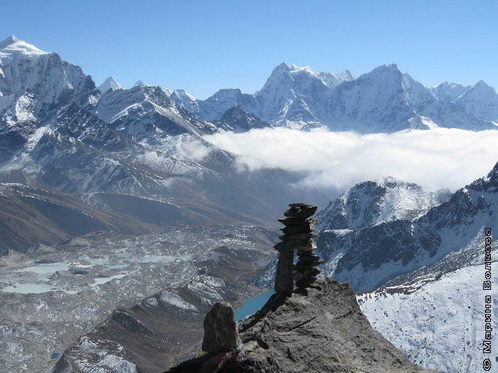 Центр Гималаи. Обо на Пике Гокио