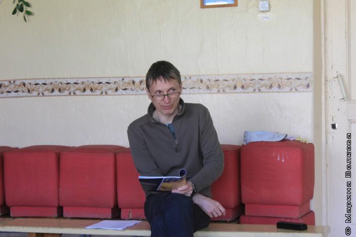 Михаил Придворов на Читательском марафоне в Уйском