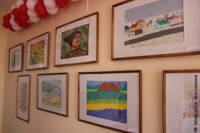 Детские рисунки в краеведческом музее
