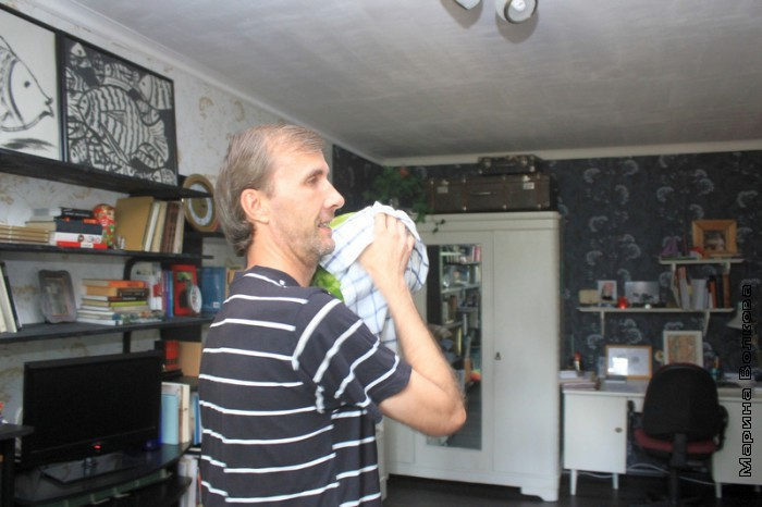 Янис Грантс с арбузом