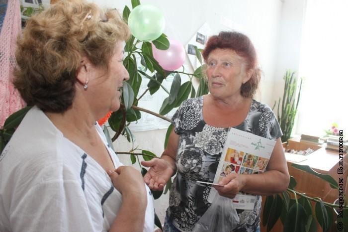 Галия Сафеевна и Фания Гатиятовна договариваются о совместной работе