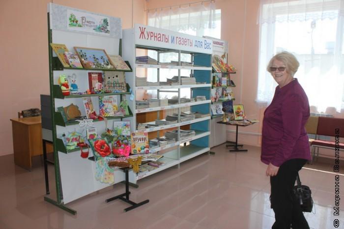 Наталья Шмидт в библиотеке Уйского