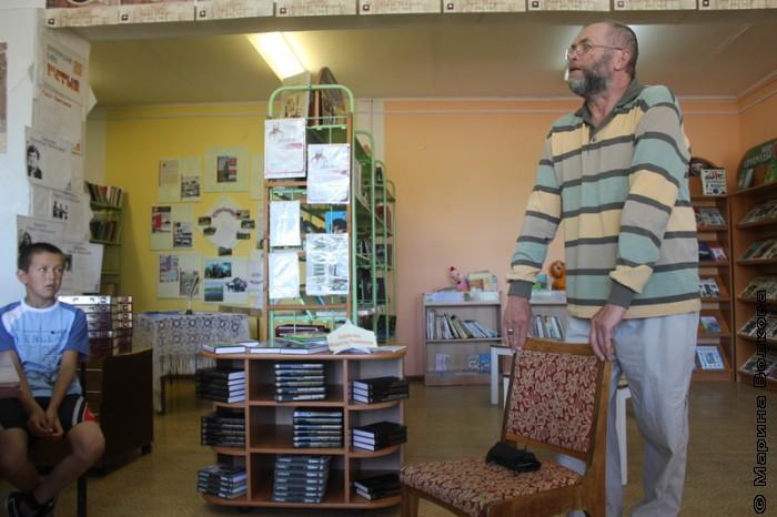 Сергей Поляков в библиотеке Сыртинского