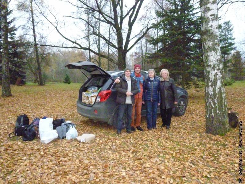 Придворов, Грантс, Святкина, Шмидт и наша машина перед отъездом из Беларуси