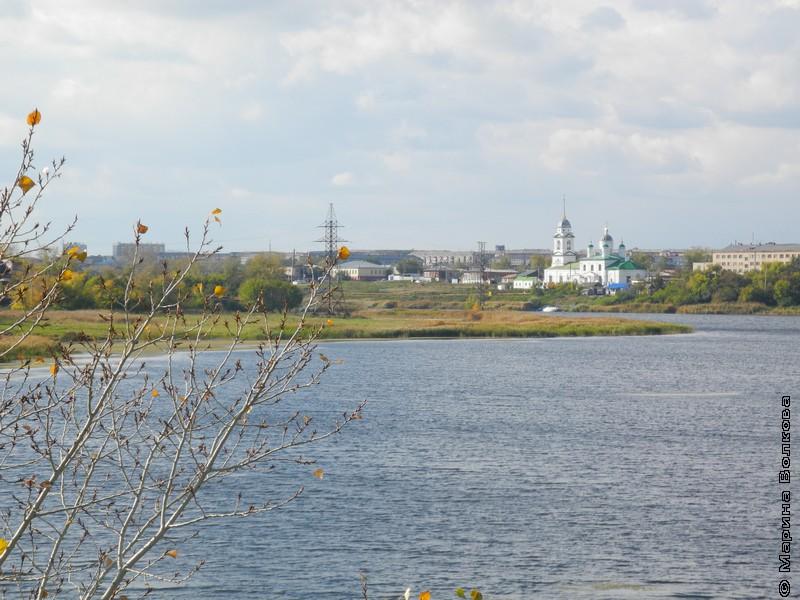 Вид на Троицк с Пугачевской горки