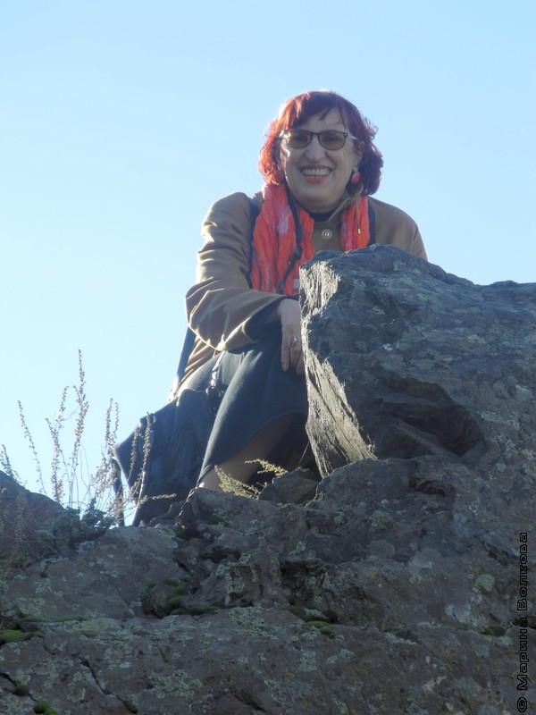 Марина Волкова на Пугачевской горе