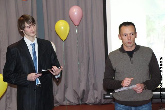 Анатолий Бекишев (ведущий) и Михаил Стригин