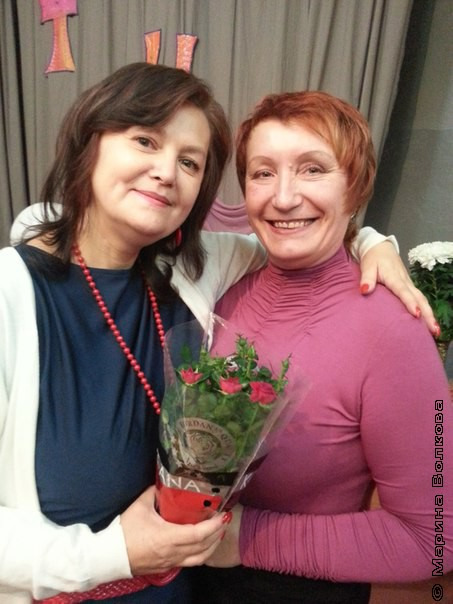 Елена Губина и Ольга Пузанова - председатель профуома МАОУ СОШ № 94