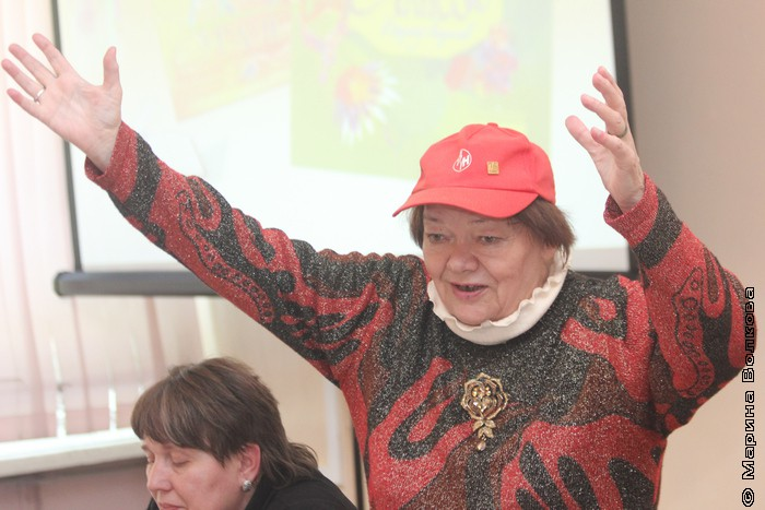 Римма Дышаленкова на презентации книги 16 мая