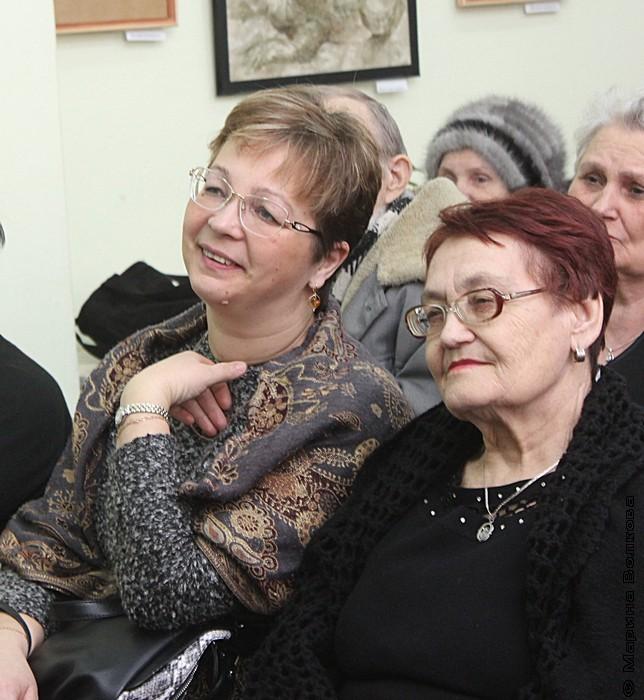 На открытии выставки Ирины Мехоношиной