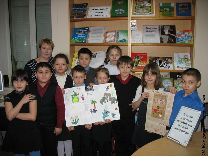 Ребята из 2-в класса прочитали стихи Николая Шилова и коллективно выполнили пластилиновый коллаж.