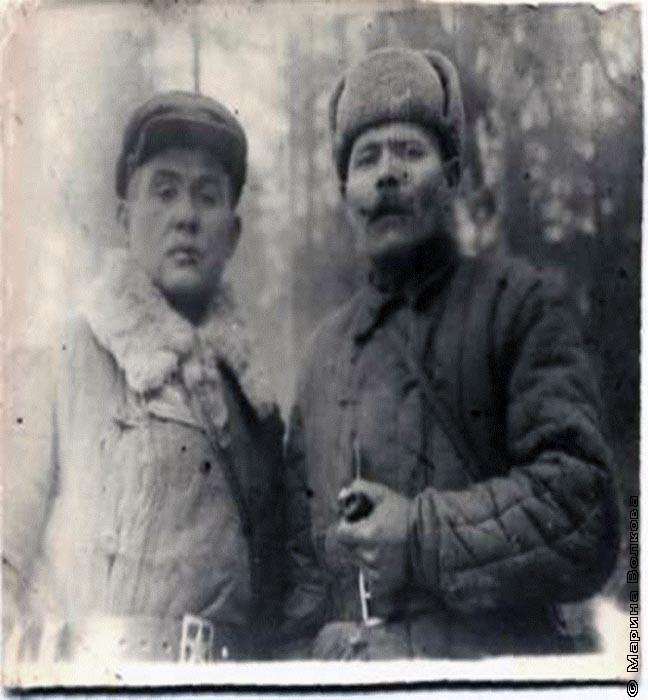 Баландин Павел Алексеевич (справа)