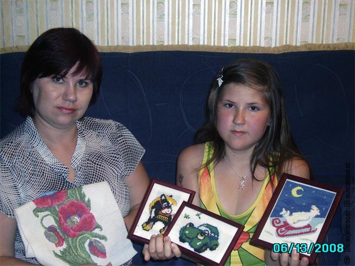 Белоусова Виктория с мамой Аленой
