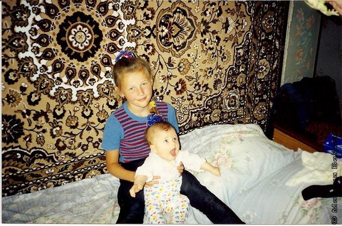 Вторая дочь Валентины - Дарья с племянницей