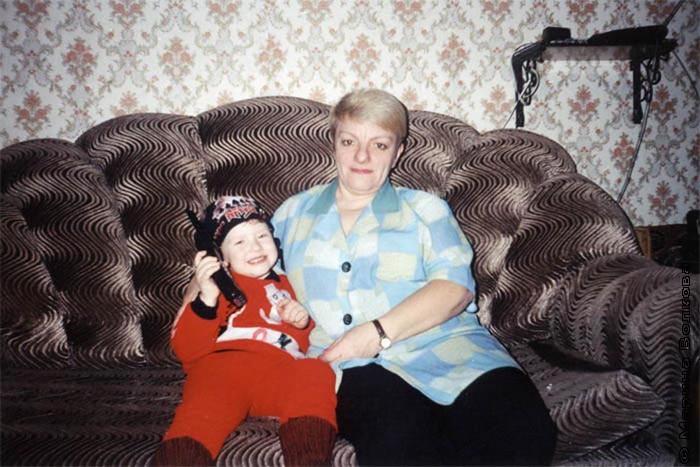 Ирина Александровна Орехова, мама Марины Николаевны, с внуком Сережей.