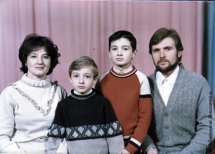 Евгения и Вячеслав Лебедевы и их сыновья: Петр и Евгений