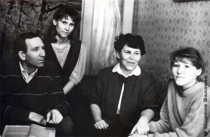 Виктор Алексеевич Нечепуренко и Ольга Алексеевна и их дочери: Елена и Екатерина