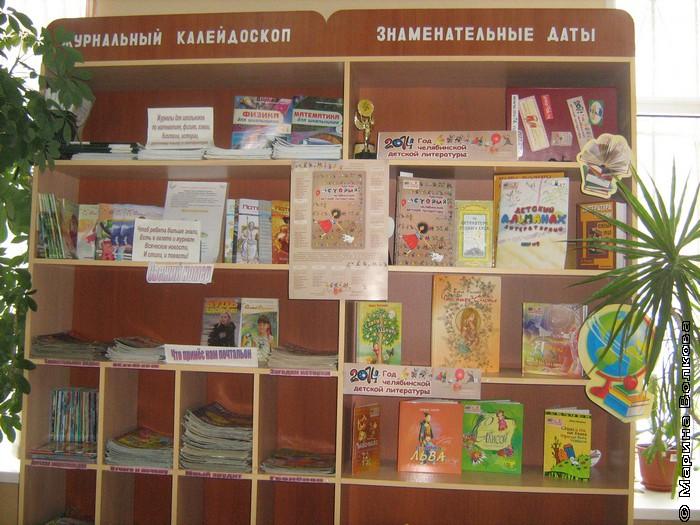 Выставка книг в библиотеке школы № 46