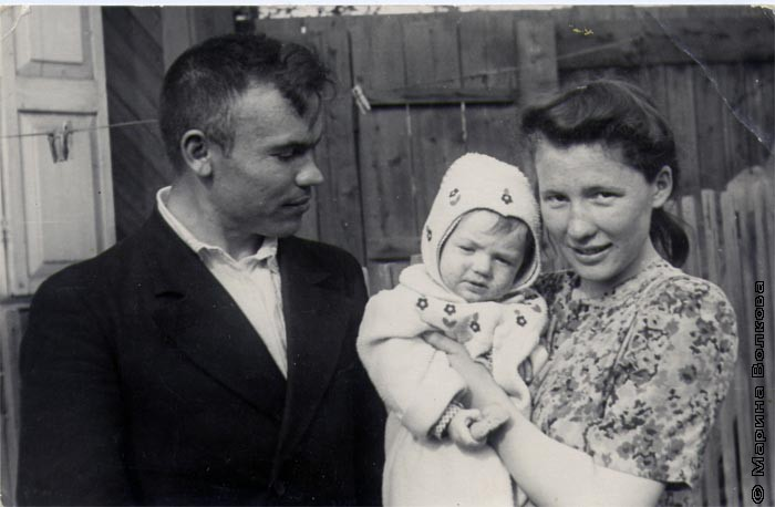 Николай и Зоя Буряковы с дочерью Верой