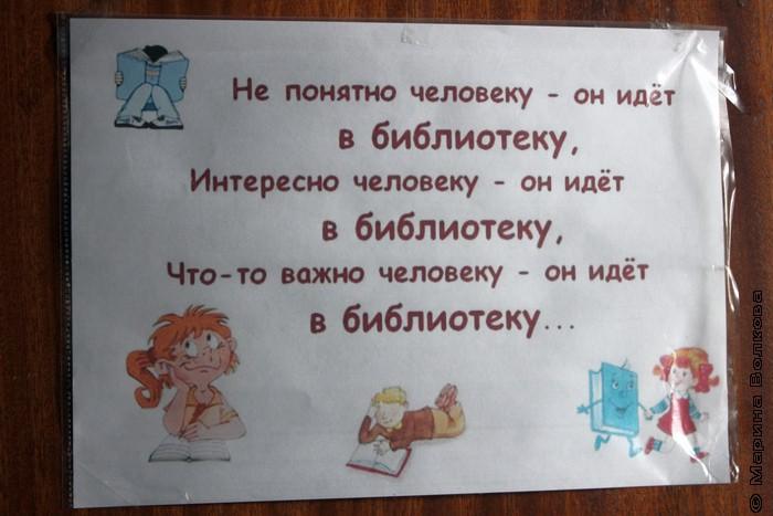 В библиотеке поселка Бажово