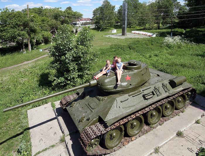 Танк в Зайково