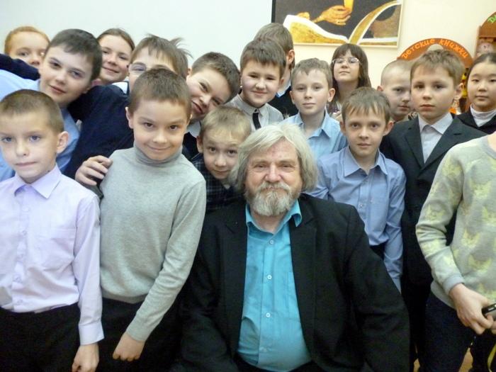 встреча с писателем Олегом Павловым в детской библиотеке №12