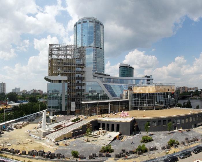 Строительство центра Ельцина