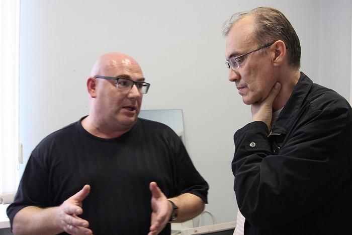 М.Липовецкий и В.Кальпиди. Фото сделано в июне 2014, во время первой встречи