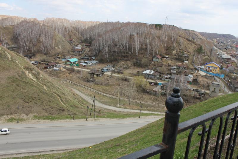 Тобольск: вид из Кремля на старый город