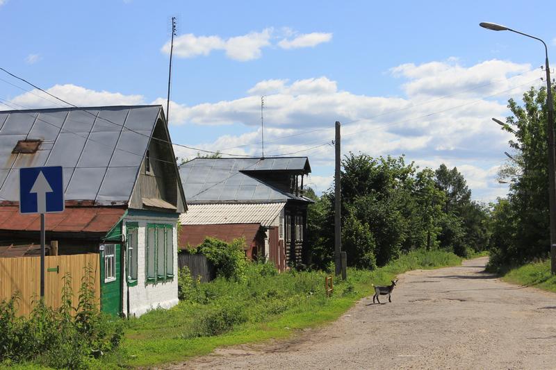 Односторонняя улица в Гороховце