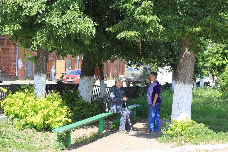 На улочке в Гороховце