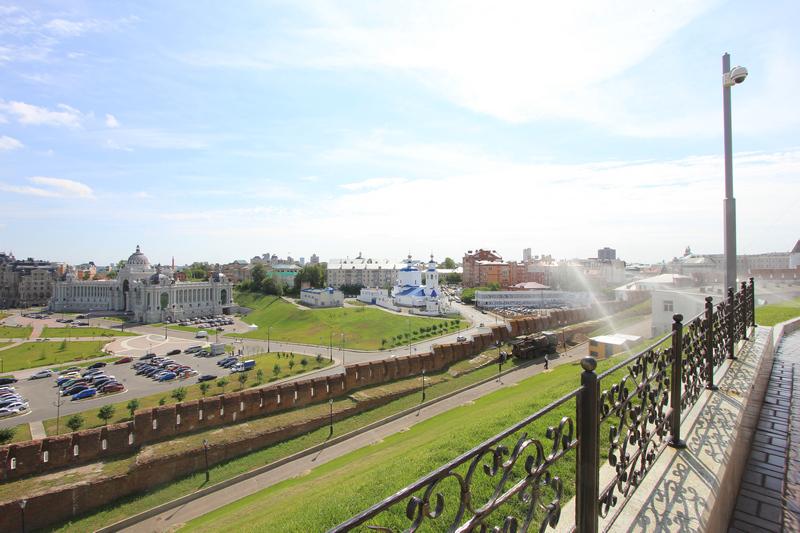Вид на Казань с кремлевской площадки