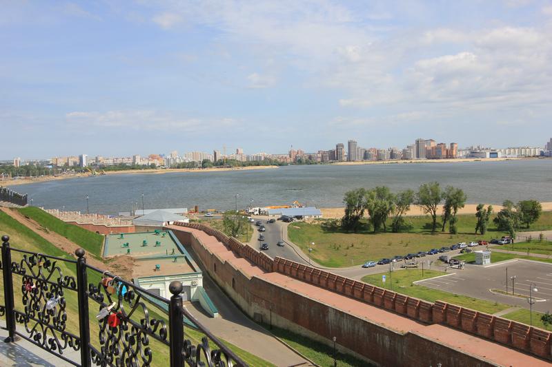 Кремлёвская стена и вид на Волгу